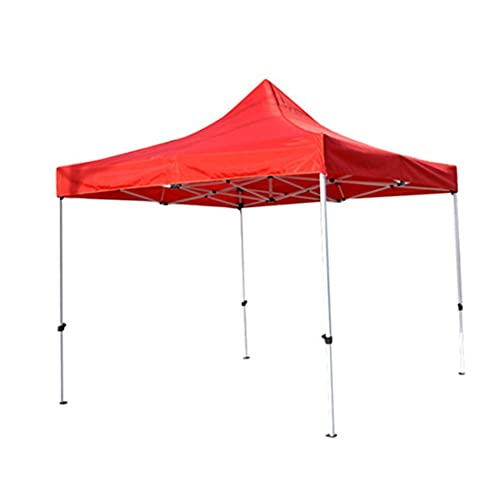 YUUY Cubierta Superior de Repuesto para cenador de jardín a Prueba de Sol, toldo de Refugio, Impermeable (3 m * 3 m) (Color : Red)