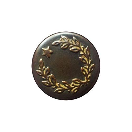 Trimmen Shop 17mm Bronze Jeans Tasten One Star mit Pins Ersatz Druckknöpfe für Jacken, Kleidung, Hosen, Nähen Stricken Handarbeiten, Verzierungen, strapazierfähig und robust, Metall, 100