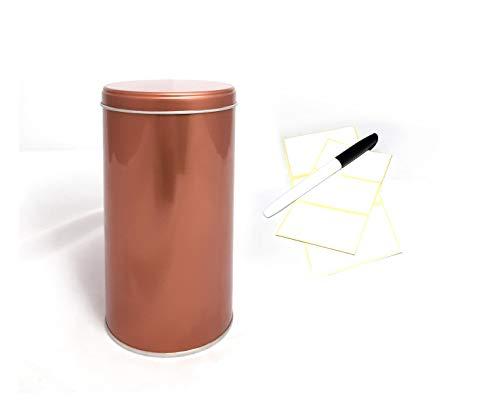 WachSam 4er Set Vorratsdosen 1250ml aus Metall   Kupfer beschichtet   mit zusätzlichem Aromaschutzeinsatz   Lebensmittelecht   hergestellt in Österreich und Deutschland