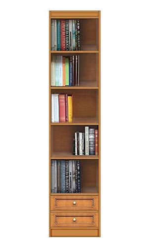 Arteferretto Meuble bibliothèque Haute avec étagères Ajustables et 2 tiroirs, livré monté