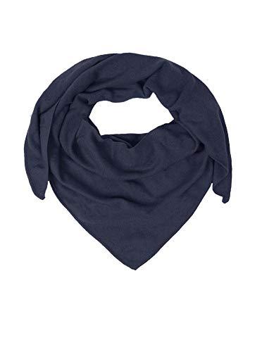 Zwillingsherz Dreieckstuch aus 100% Kaschmir - Hochwertiger Schal im Uni Design für Baby-s Jungen und Mädchen - Cashmere XXL Hals-Tuch und Damenschal - Strick-Waren für Sommer und Winter navy