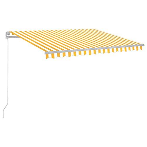 vidaXL Toldo Manual Retráctil con LED Plegable Manivela Ventana Sombrilla Jardín Terraza...
