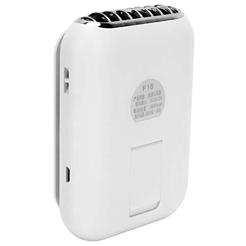 Ventilador USB, Uso silencioso Ventilador sin Cuchillas de Longitud Ajustada Manténgase Fresco 3 configuraciones Diferentes para Pescar Camping(Nordic White)