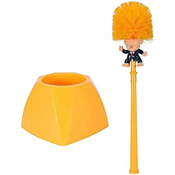 Trade Horse Donald Trump Toilet Brush Funny Cleaner Scrubber Trump Toilet Bowl Brush with Holder,Gag Gift Doll for Bathroom Deep Cleaning Make Your Toilet Great Again