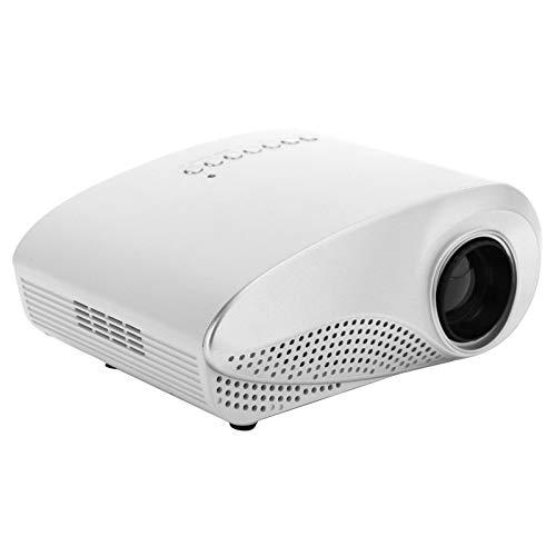 Dpofirs RD802 100‑240V Proyector doméstico HD 1080P LCD Mini Smart Portable Handheld Home Theater, Soporte 1920x1080, AV, HDMI.VGA, Tarjeta de Memoria, USB(Blanco)