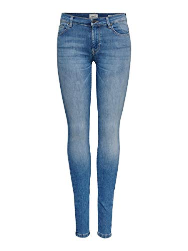 ONLY Damen Skinny Fit Jeans Shape Reg Jeans in Skinny Fit 2834Light Blue Denim