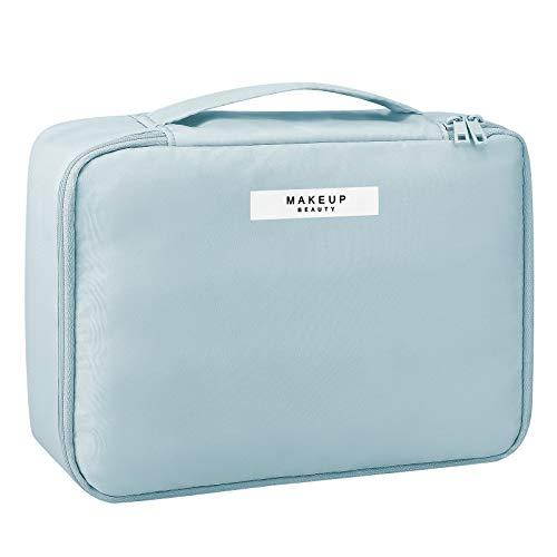 Pocmimut Makeup Bag Cosmetic Bag for Women Cosmetic Travel Makeup Bag Large Travel Toiletry Bag for Girls Make Up Bag Brush Bags Reusable Toiletry Bag(Blue)