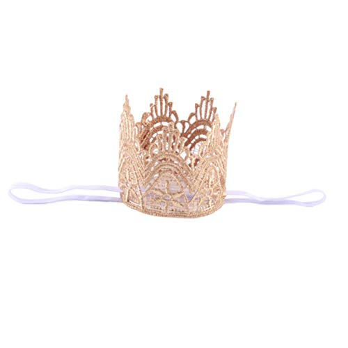 Nueva ropa de bebé europea y americana en forma de corona Hairband Infantil Niñas Foto Tocado