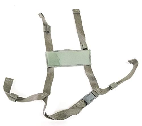 New ACH 4 Points Chin Strap without Bolts and Screws for MICH and A.C.H Helmet by Military issued