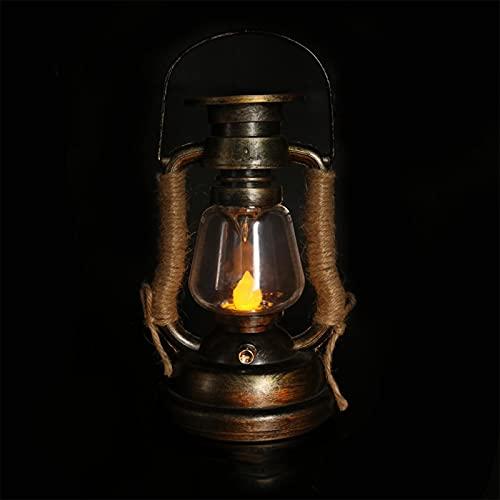 Linterna LED de vela vintage, luz de llama, linterna de camping parpadeante, luces de noche, decoración LED para patio, jardín, fiesta, al aire libre, con control remoto funciona con pilas