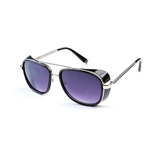 Mlcjva Pareja Colorida Gafas de Sol Barrera Glamir Modelo Modelo Doble Haz Gafas de Sol Retro Personalidad Gafas Pesca, Esquí, Montañismo, Compras