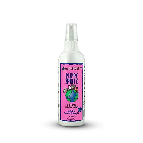 earthbath Puppy Spritz, Dog & Puppy Deodorizing Spray, Wild Cherry, 8oz – Detangles, Deodorizes & Conditions – Made in USA