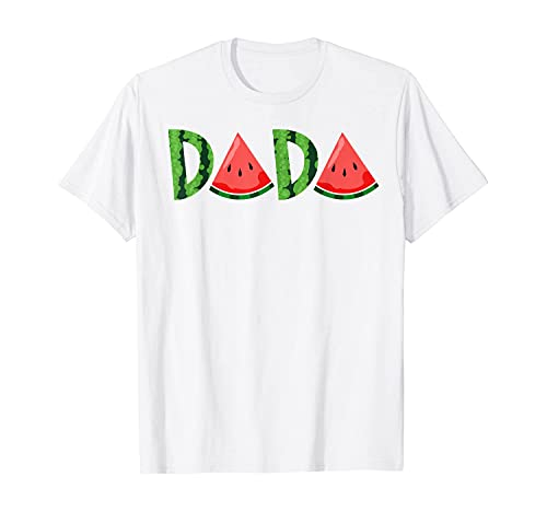 Watermelon Dada Summer Tropical Fruit Father's Day T-Shirt