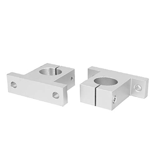 New Lon0167 SK30 30mm Featured Shaft Inner Diameter Reliable Efficacy Rail Linear Motion Guide Support Silver Tone 2pcs(id:db6 a7 db f74)