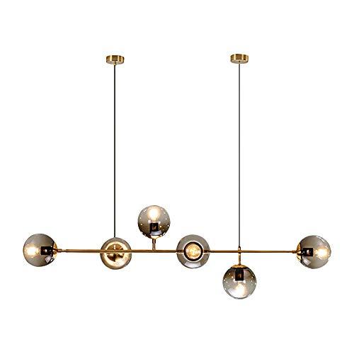 YMLL Industrial Lámpara De Araña, 6 Luces Molecular Lámpara, Lámpara De Cristal para El Dormitorio, Salón