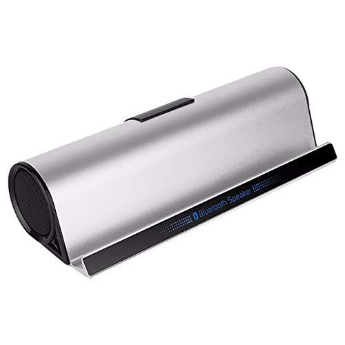 LRWEY Mini Tragbarer Bluetooth-Lautsprecher, BT-10 High-End-Alloy Bluetooth-Audio-Halterung für Mobilgeräte Multifunktions-Bass-Lautsprecher für iPhone, iPad, Laptops
