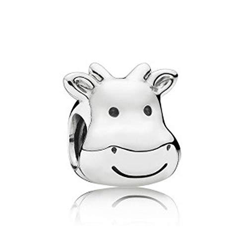 Fit Original Pandora Bracelets 925 Sterling Silver Charm Bead Cheerful Cow Women Bangle Diy Jewelry Gift
