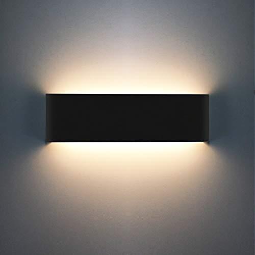 12W 1200LM LED Lampada da parete, Applique da Parete Stile Moderno, Up Down Interni Lampada in Alluminio, 3000K Bianco Caldo Ideale per Camera da Letto, Soggiorno, Scale, Corridoio