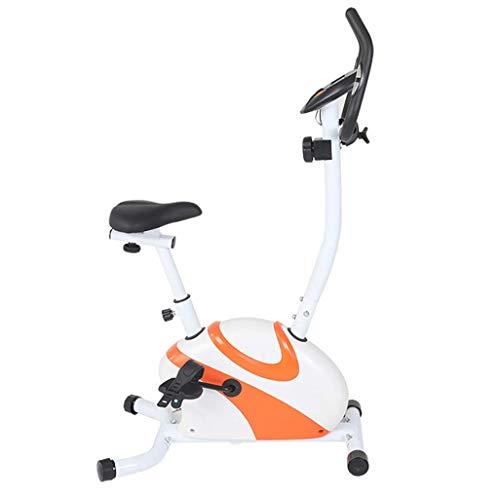 WGFGXQ Bicicleta estática Resistencia Ajustable Ejercicio aeróbico Bicicleta estática para Interiores con Pantalla LCD Cinturón de Seguridad Ajustable Almohadilla para el pie Oficina en casa Entren