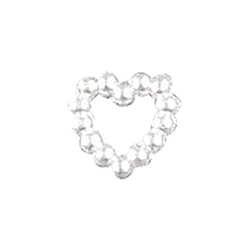 Rayher 1 Pack De Plastique. Mini Perle Coeur env. 1 cm 48 Pièces, dans Boîte