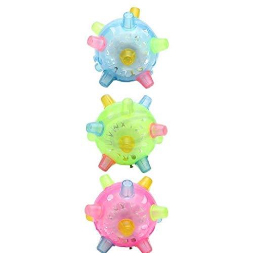 LED Flash de la música de Baile luz de la Bola Juguete de la Bola de Salto Vibrante Rebote Rebote con Luces LED de Colores y de música para Regalos de Las Muchachas de los niños pequeños