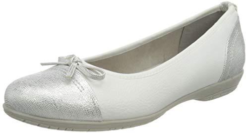 Jana 8-8-22168-26 197, Ballerines Femme, Blanc, 40 EU