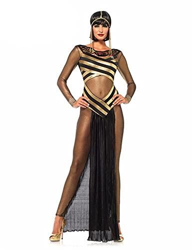 WXFASHION Cosplay de Halloween, Reina del Nilo Cleopatra Egipcio Adulto para Fiesta Sexy Fiesta Disfraz de Vestimenta (Color : Greek Goddess, Size : M)