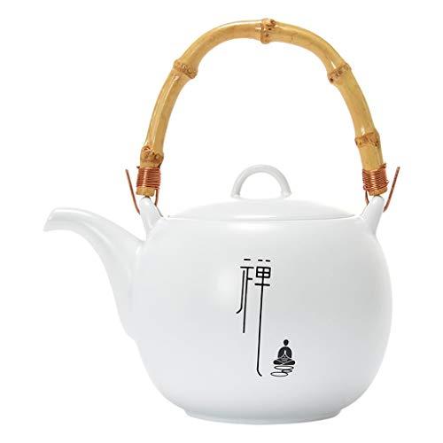 Teteras 650 ml de cerámica teteras de Porcelana Blanca de té del Chino teteras único Hervidor Kung Fu Juego de té Infuser Tetera de China Moda Tetera (Color : White, tamaño : A)