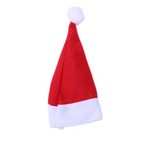 TOOGOO(R) 24 x Weihnachtsmuetze fuer 6cm Nikolausmuetze Puppenmuetze Weihnachten-Muetze Adventskalender