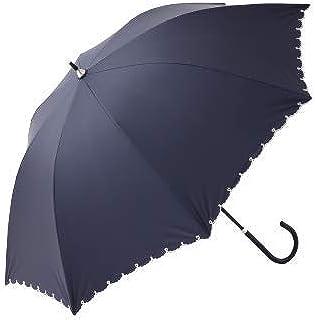 [ アフタヌーンティー リビング ] AfternoonTea LIVING 長傘 GM09 スカラップ ハート 刺繍 晴雨兼用 長傘 日傘
