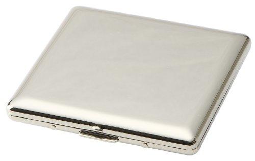 坪田パール タバコ ケース キングサイズ/ショート(85mm) 10本収納 スリム プレーン シルバー 1-87407-81