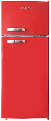RCA RFR786 RED 2 Door Apartment Size Refrigerator with Freezer 7 5 cu ft Retro Red product image