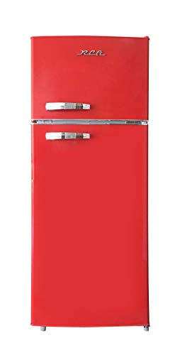 RCA RFR786-RED 2 Door Apartment Size Refrigerator with Freezer, 7.5 cu. ft, Retro Red