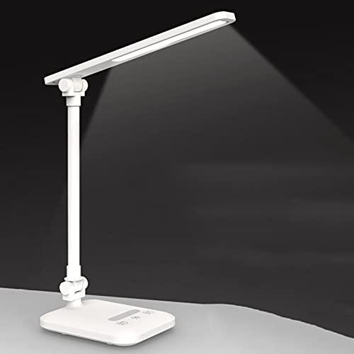 Lámpara de Escritorio Llevada Plegable, Lámparas de Mesa para el Cuidado de Los Ojos con Control Táctil, 3 Modos de Color, con 3 Niveles de Brillo, Ahorro de Energía - 32 Leds