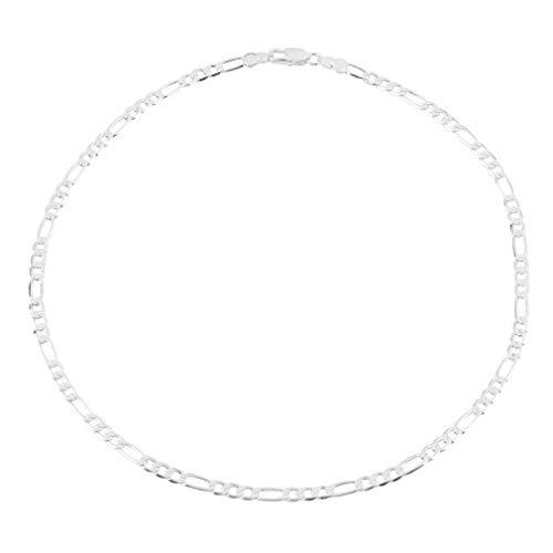 1 ST Nieuwe Mode Effen Verzilverd Legering 4 MM Chain Mannen Ketting 16-30 inch goede decoratie voor modezilver
