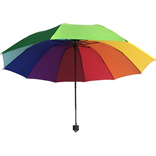 paraplu opvouwbare paraplu's regenboog paraplu opvouwbare Multi kleuren 10 bot tri-Fold paraplu's regen vrouwen hoge kwaliteit zon bescherming winddichte parasolen