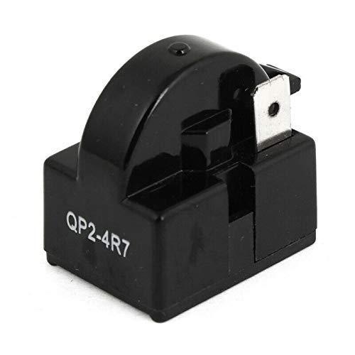 2 PCS QP2-4R7 4.7 Ohm 1 Pin Refrigerator PTC Starter Relay Black