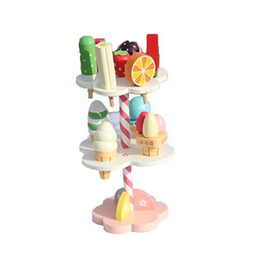 Floridivy Baby speelgoed Simulatie Ice Cream Wooden Toys Set Pretend Play Keuken Babyvoeding Infant Toys Verjaardag Christmas Gift