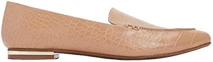 Express Women's Pebble Texture Pointed-Toe Slip-on Lenox Loafers, Pecan