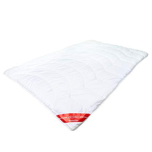 Traumschloss Bettdecke Classic Duo Faserbett | das warme Bett für kühle Schlafräume | bauschige Softfaserfüllung und superleichter Microfaserbezug | 135 x 200cm