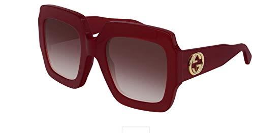 Gucci GG0178S-005 gafas de sol, Red, 54.0 para Mujer