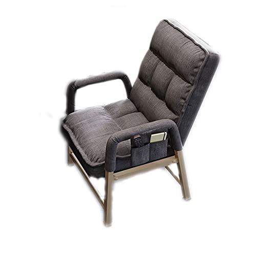 ZANZAN Silla ergonómica de Oficina ejecutiva, Respaldo Giratorio, Silla de Escritorio para computadora con apoyabrazos/Bolsa de Almacenamiento (Color : Dark Gray (Cloth))