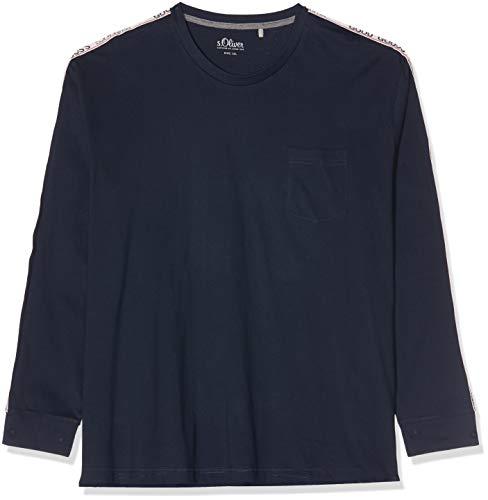 s.Oliver Big Size Herren 15.909.31.6986 Langarmshirt, Blau (Fresh Ink 5952), 4XL