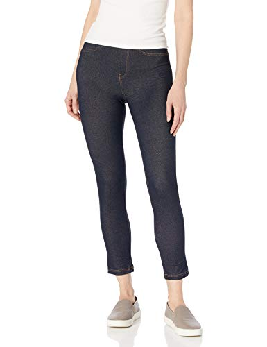 No Nonsense Women's Capri Legging with Pockets, Dark Denim, S