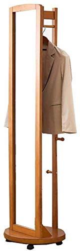 European style Rotate staande spiegel staande garderobe houten hangende multifunctionele spiegel slaapkamer woonkamer werkkamer B A