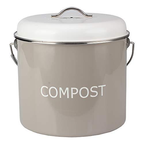 Seau à compost pour cuisine – Poubelle sans odeur avec couvercle – 0,8 gL
