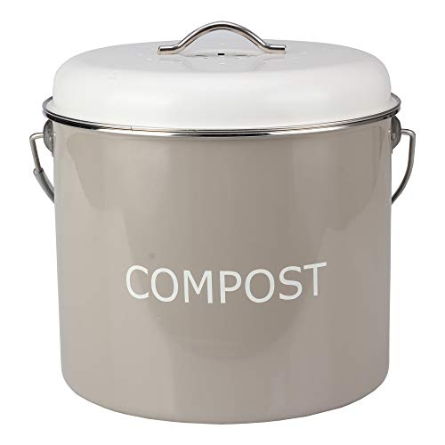 Buy Bargain COMPOST BIN COUNTERTOP – 0.8 gallon/3 liter- Compost Bucket for Kitchen with Lid and 4...