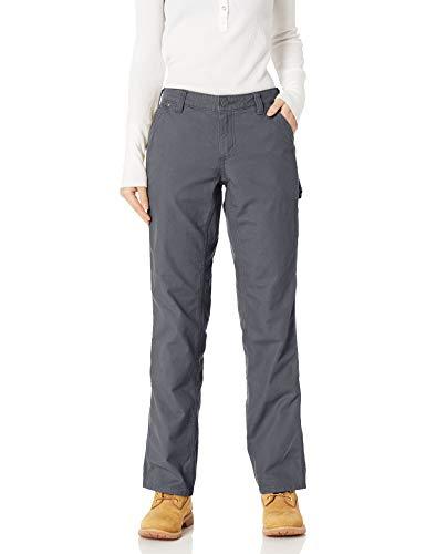 Carhartt Women's Original Fit Crawford Pant, Coal, 6 Short