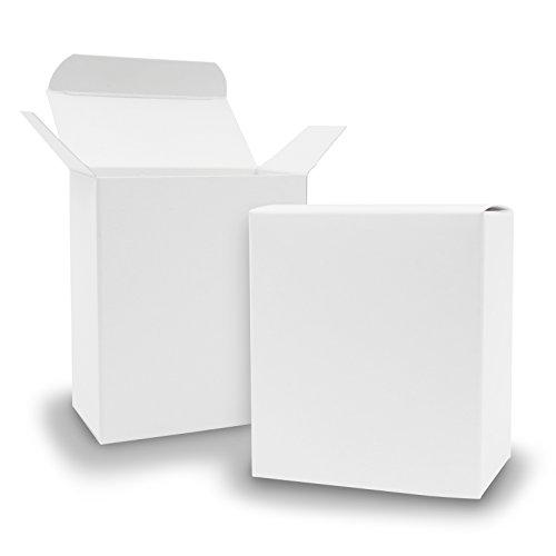 25x itenga Quader Faltschachtel aus Karton 8x4x9cm weiß Gastgeschenk Schachtel zum Befüllen (Hochzeit. Adventskalender. Taufe. Geburtstag. Geschenk. Kommunion)