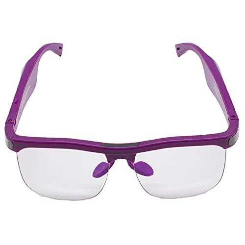 LWZ Gafas Bluetooth Anti-luz Azul Gafas Inteligentes Impermeables Adecuado para Actividades al Aire Libre, Deportes y ocioPurple